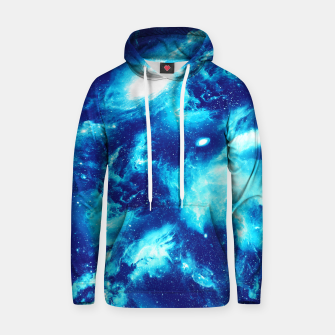 Thumbnail image of Icy Blue Galaxy Cotton hoodie, Live Heroes