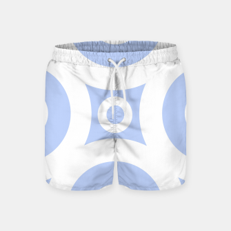 Thumbnail image of Abstract pattern - blue and white. Swim Shorts, Live Heroes