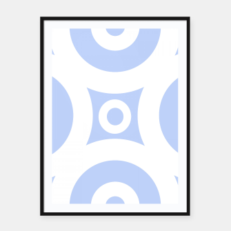 Miniature de image de Abstract pattern - blue and white. Framed poster, Live Heroes