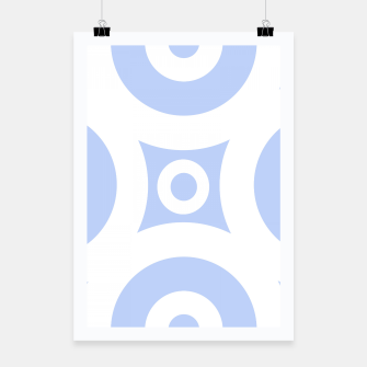 Miniature de image de Abstract pattern - blue and white. Poster, Live Heroes