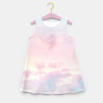 Thumbnail image of Unicorn Pastel Clouds #2 #decor #art Mädchen-Sommerkleid, Live Heroes