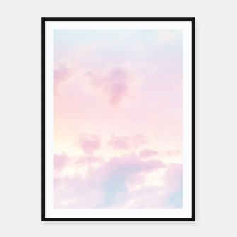 Thumbnail image of Unicorn Pastel Clouds #2 #decor #art Plakat mit rahmen, Live Heroes