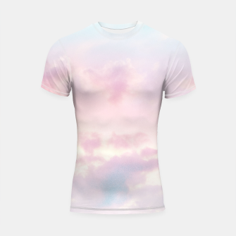 Thumbnail image of Unicorn Pastel Clouds #2 #decor #art Shortsleeve rashguard, Live Heroes