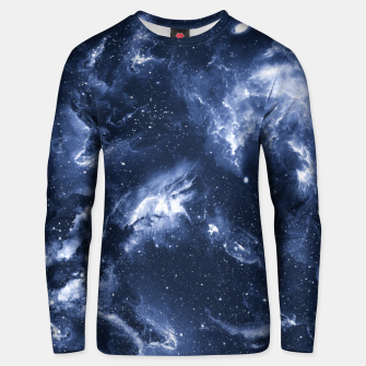 Dark Blue Galaxy Cotton sweater obraz miniatury