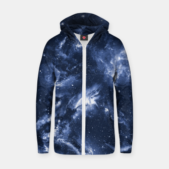 Dark Blue Galaxy Cotton zip up hoodie obraz miniatury