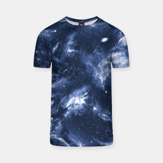 Dark Blue Galaxy T-shirt obraz miniatury