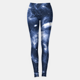 Dark Blue Galaxy Leggings obraz miniatury