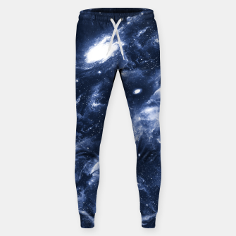 Dark Blue Galaxy Cotton sweatpants obraz miniatury