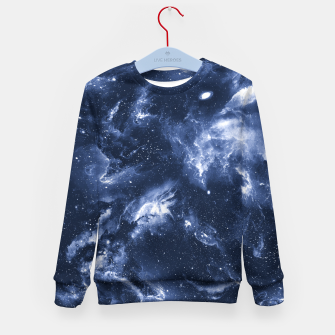Dark Blue Galaxy Kid's sweater obraz miniatury