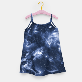 Dark Blue Galaxy Girl's dress obraz miniatury