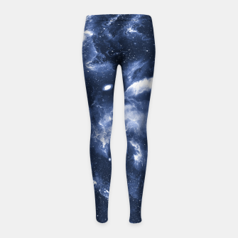 Dark Blue Galaxy Girl's leggings obraz miniatury