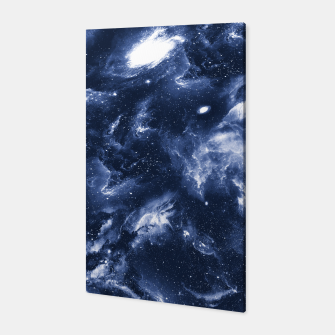 Dark Blue Galaxy Canvas obraz miniatury