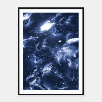Dark Blue Galaxy Framed poster obraz miniatury