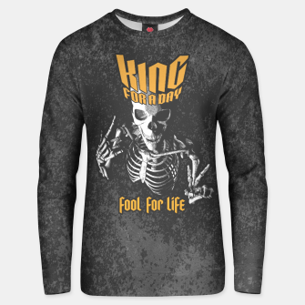 Thumbnail image of King For A Day Skull Cotton sweater, Live Heroes
