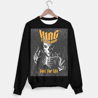 Miniatur King For A Day Skull Sweater regular, Live Heroes