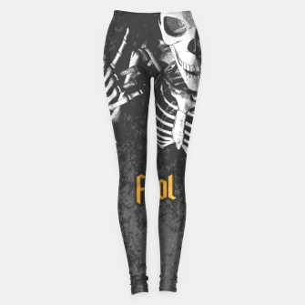 Thumbnail image of King For A Day Skull Leggings, Live Heroes
