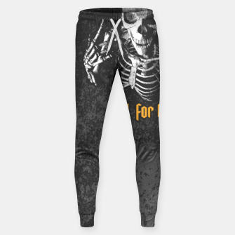 Miniatur King For A Day Skull Cotton sweatpants, Live Heroes