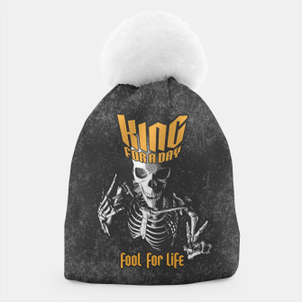Miniatur King For A Day Skull Beanie, Live Heroes