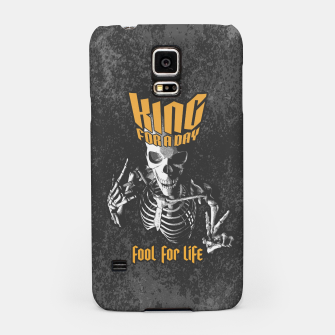 Thumbnail image of King For A Day Skull Samsung Case, Live Heroes
