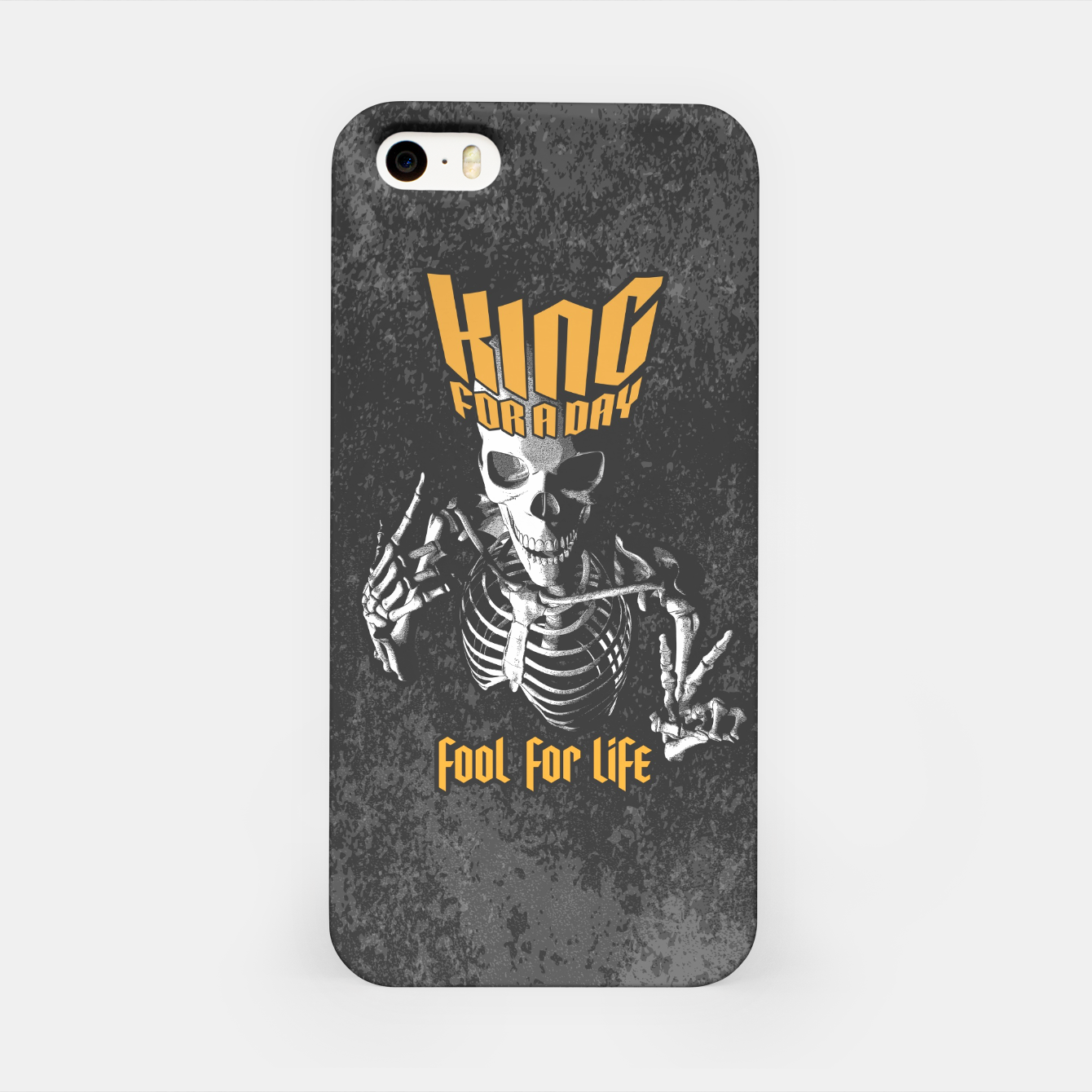 Image of King For A Day Skull iPhone Case - Live Heroes