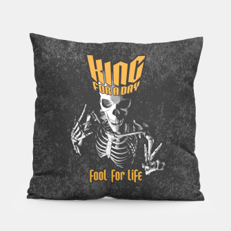 Thumbnail image of King For A Day Skull Pillow, Live Heroes