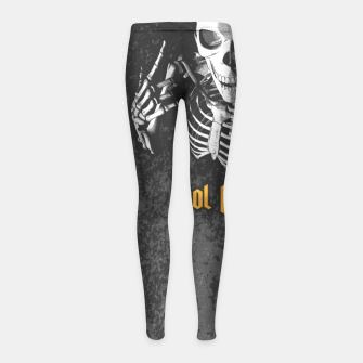 Miniatur King For A Day Skull Girl's leggings, Live Heroes
