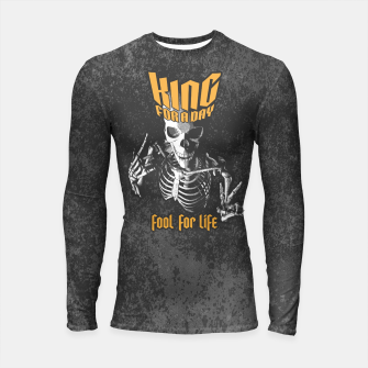 Thumbnail image of King For A Day Skull Longsleeve rashguard , Live Heroes