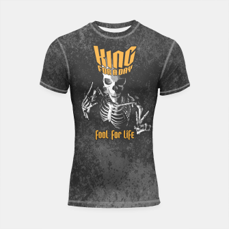 Thumbnail image of King For A Day Skull Shortsleeve rashguard, Live Heroes
