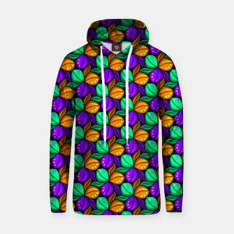 Thumbnail image of Floral Tricolor Pattern Cotton hoodie, Live Heroes