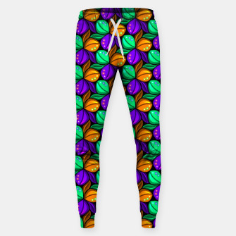 Miniature de image de Floral Tricolor Pattern Cotton sweatpants, Live Heroes