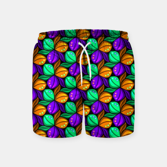 Thumbnail image of Floral Tricolor Pattern Swim Shorts, Live Heroes