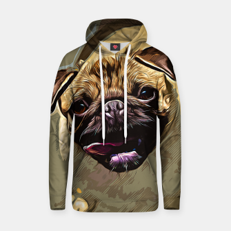Miniatur gxp hungry pug dog vector art Cotton hoodie, Live Heroes