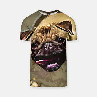 Miniatur gxp hungry pug dog vector art T-shirt, Live Heroes