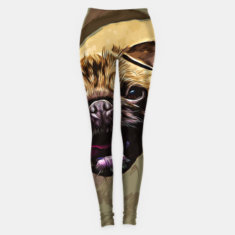 Miniatur gxp hungry pug dog vector art Leggings, Live Heroes