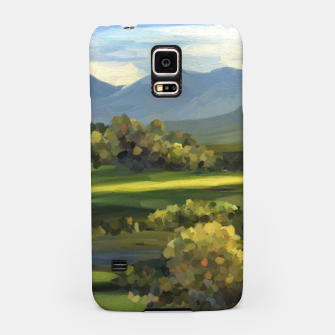 Thumbnail image of Blue Alps and Greenery Oil Impasto Samsung Case, Live Heroes