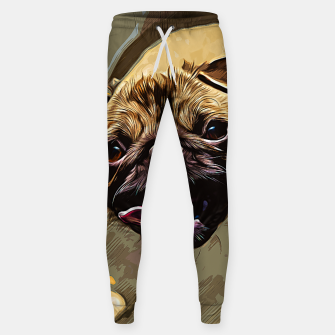 Miniatur gxp hungry pug dog vector art Cotton sweatpants, Live Heroes
