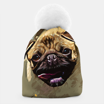 Thumbnail image of gxp hungry pug dog vector art Beanie, Live Heroes