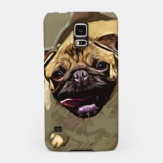 Miniatur gxp hungry pug dog vector art Samsung Case, Live Heroes