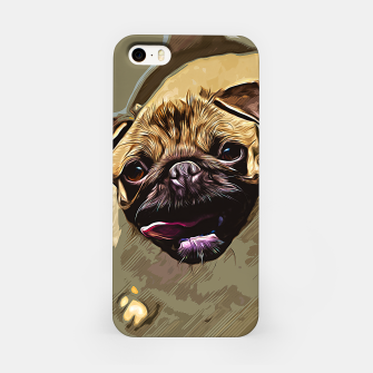 Miniatur gxp hungry pug dog vector art iPhone Case, Live Heroes