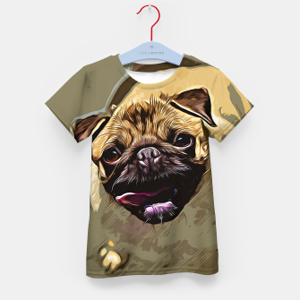 Miniatur gxp hungry pug dog vector art Kid's t-shirt, Live Heroes