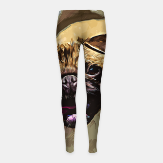 Miniatur gxp hungry pug dog vector art Girl's leggings, Live Heroes