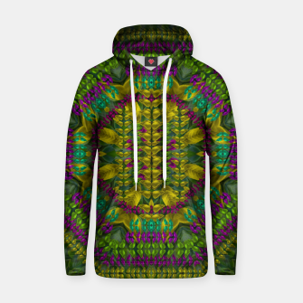 Thumbnail image of Butterfly flower jungle and full of leaves everywhere  Cotton hoodie, Live Heroes