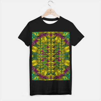 Thumbnail image of Butterfly flower jungle and full of leaves everywhere  T-shirt regular, Live Heroes