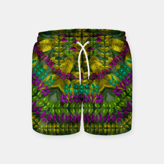 Thumbnail image of Butterfly flower jungle and full of leaves everywhere  Swim Shorts, Live Heroes