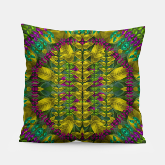 Thumbnail image of Butterfly flower jungle and full of leaves everywhere  Pillow, Live Heroes