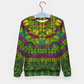 Thumbnail image of Butterfly flower jungle and full of leaves everywhere  Kid's sweater, Live Heroes