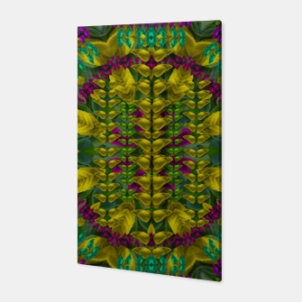 Miniaturka Butterfly flower jungle and full of leaves everywhere  Canvas, Live Heroes