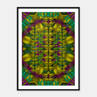 Thumbnail image of Butterfly flower jungle and full of leaves everywhere  Framed poster, Live Heroes