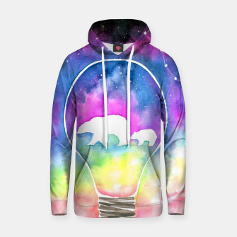 Thumbnail image of northern lights Cotton hoodie, Live Heroes