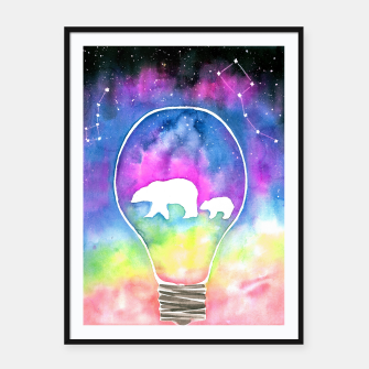 Thumbnail image of northern lights Framed poster, Live Heroes